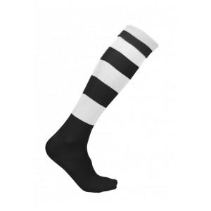 Voetbalkousen met streep zwart/wit